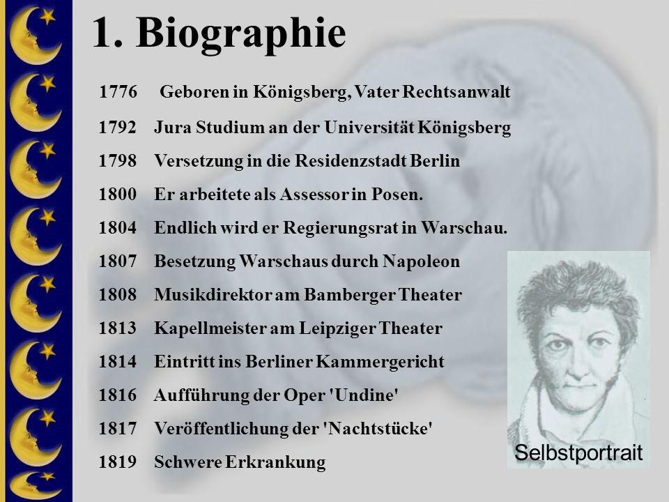 1. Biographie 1776 Geboren in Königsberg, Vater Rechtsanwalt 1792 Jura Studium an der Universität Königsberg 1798 Versetzung in die Residenzstadt Berl