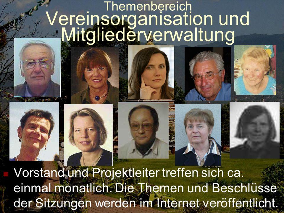 Themenbereich Vereinsorganisation und Mitgliederverwaltung