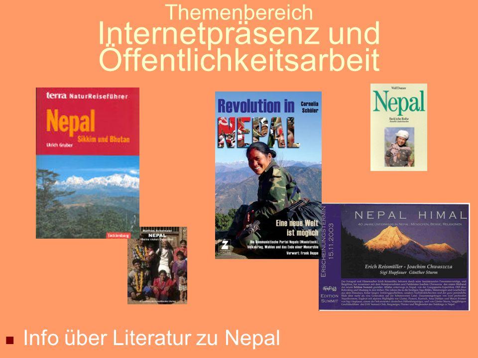 Themenbereich Internetpräsenz und Öffentlichkeitsarbeit Info über Nepal-Restaurants