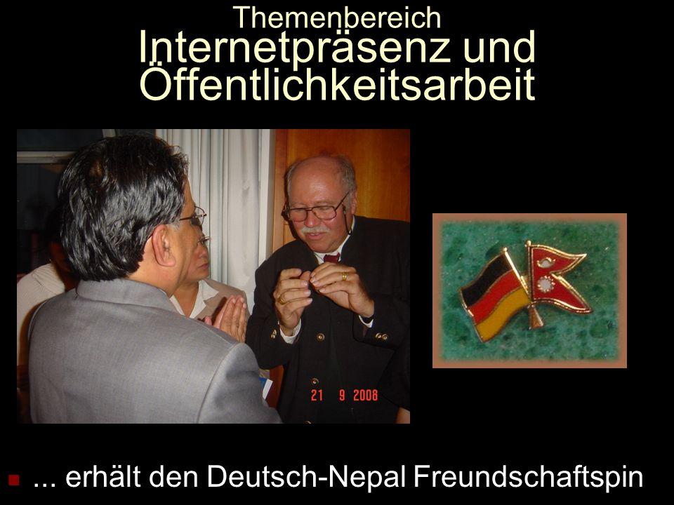 Themenbereich Internetpräsenz und Öffentlichkeitsarbeit... oder Prachanda: Guerillaführer, Premier...