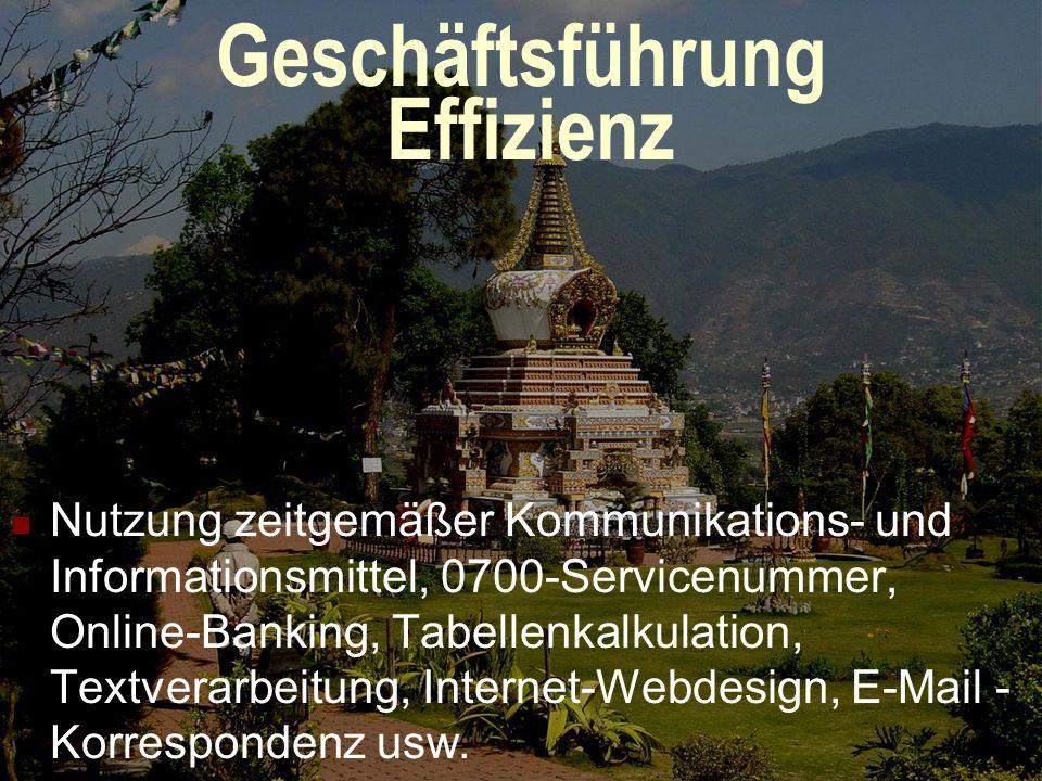 Geschäftsführung Kompetenz Fundierte und aktuelle Informationen zu den geografischen, touristischen, klimatischen, rechtlichen und politischen Gegeben