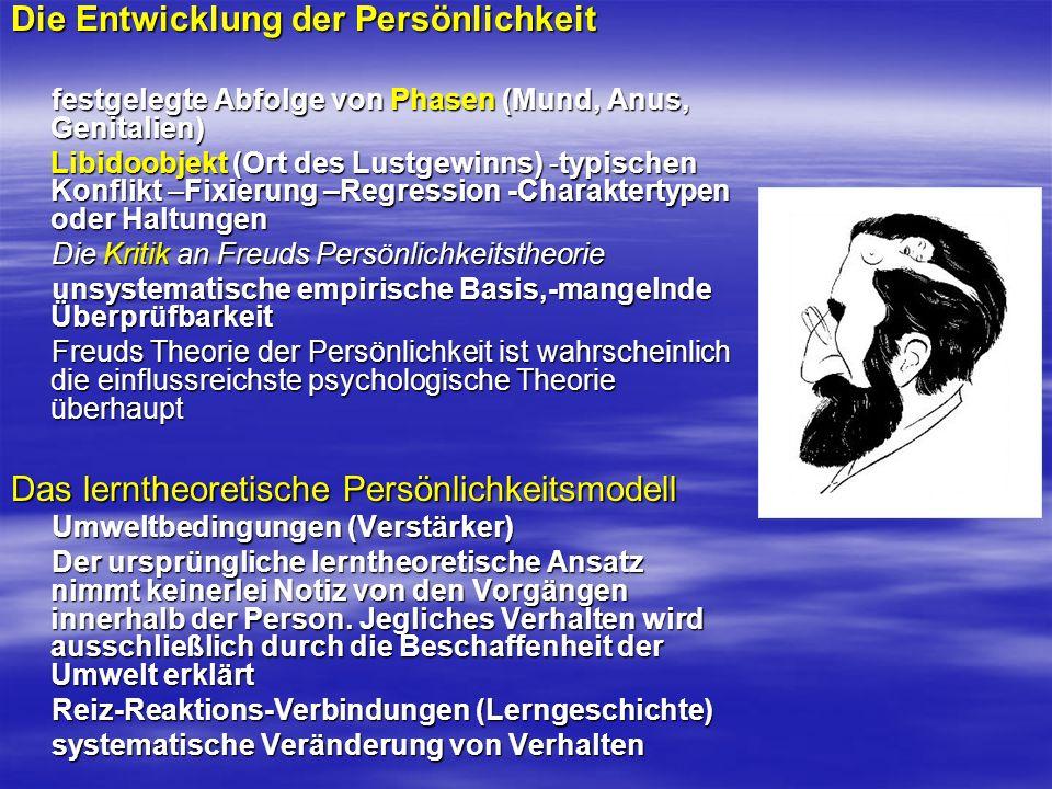 Die Entwicklung der Persönlichkeit festgelegte Abfolge von Phasen (Mund, Anus, Genitalien) festgelegte Abfolge von Phasen (Mund, Anus, Genitalien) Lib