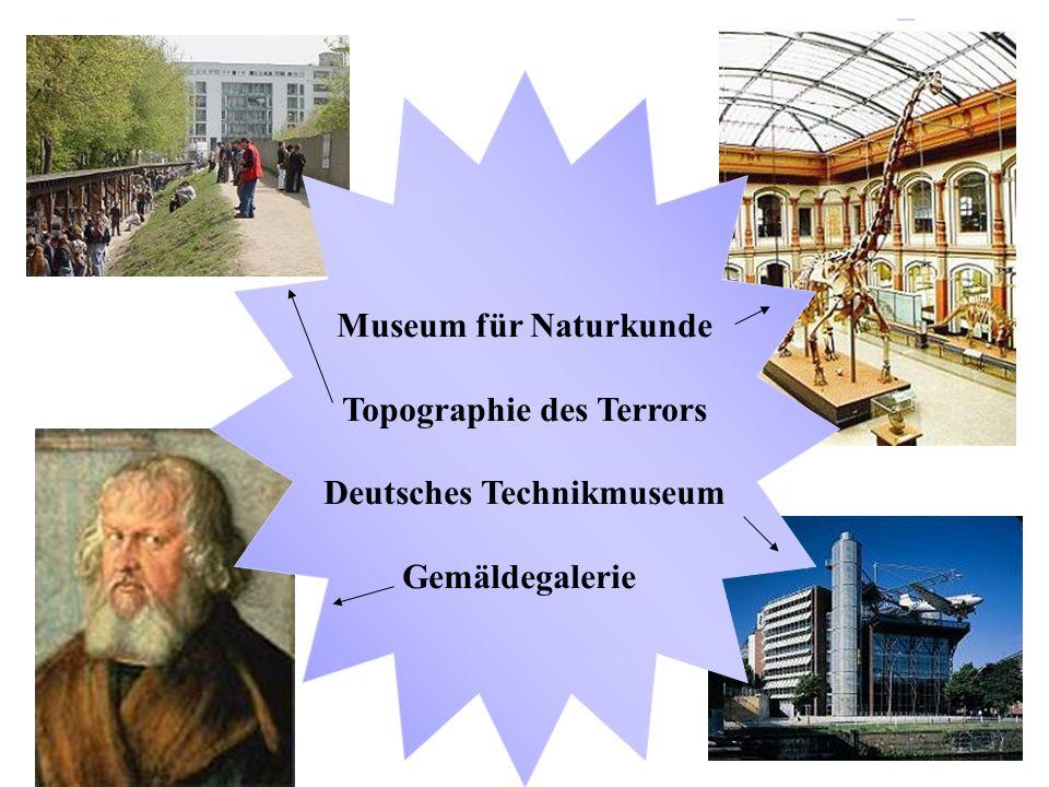 Altes Museum Neue Nationalgalerie Aegyptisches Museum und Papyrussammlung Deutsches Historisches Museum