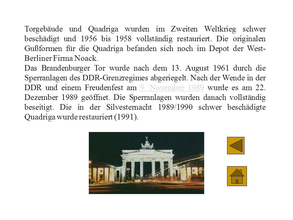 Das Brandenburger Tor ist das wichtigste Wahrzeichen Berlins und das Symbol der deutschen Einheit. Es wurde 1788 bis 1791 von Carl Gotthard Langhans n