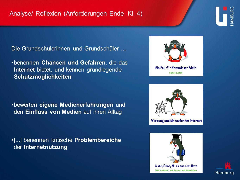 Analyse/ Reflexion (Anforderungen Ende Kl.4) Die Grundschülerinnen und Grundschüler...