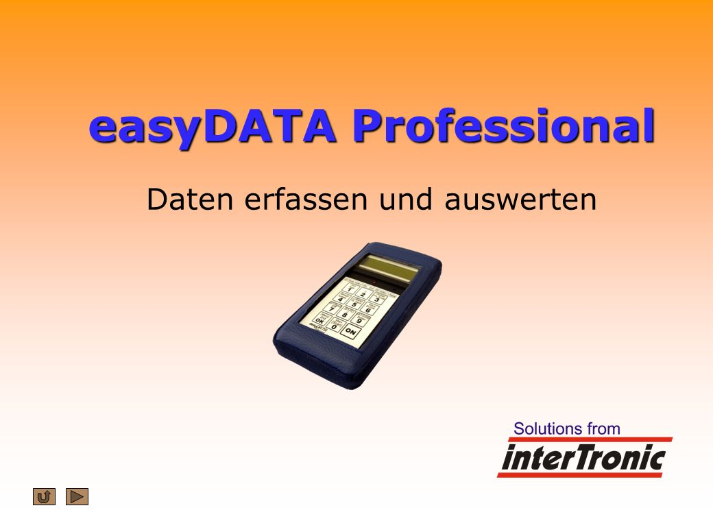 easyDATA Professional easyDATA Professional Daten erfassen und auswerten