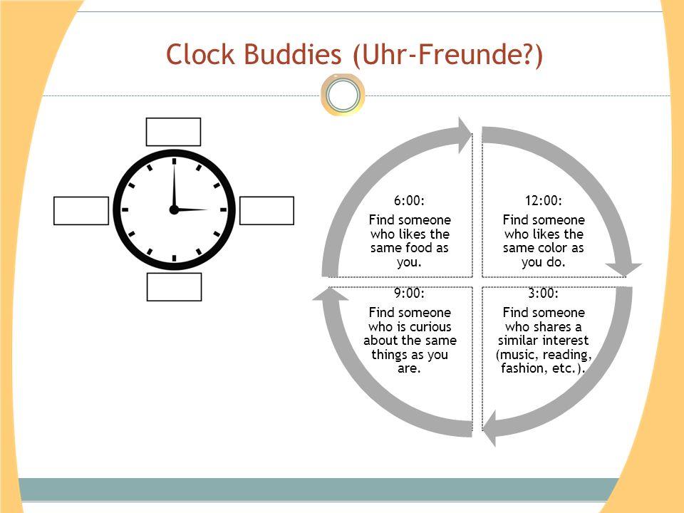 Clock Buddies (Uhr-Freunde?)