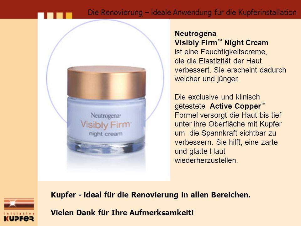 Neutrogena Visibly Firm Night Cream ist eine Feuchtigkeitscreme, die die Elastizität der Haut verbessert. Sie erscheint dadurch weicher und jünger. Di