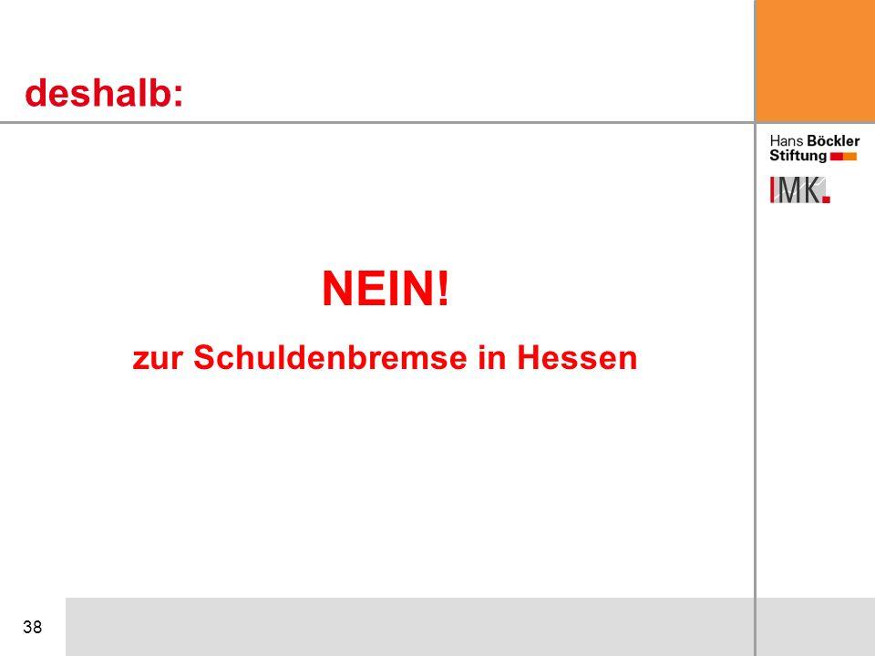 38 NEIN! zur Schuldenbremse in Hessen deshalb: