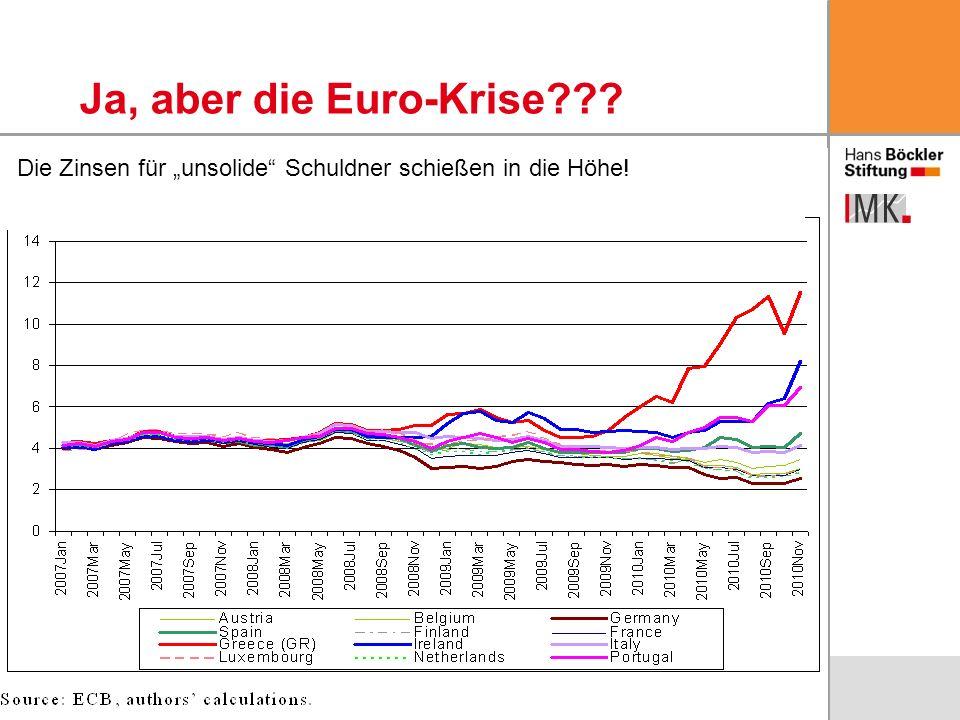 7 Ja, aber die Euro-Krise??? Die Zinsen für unsolide Schuldner schießen in die Höhe!