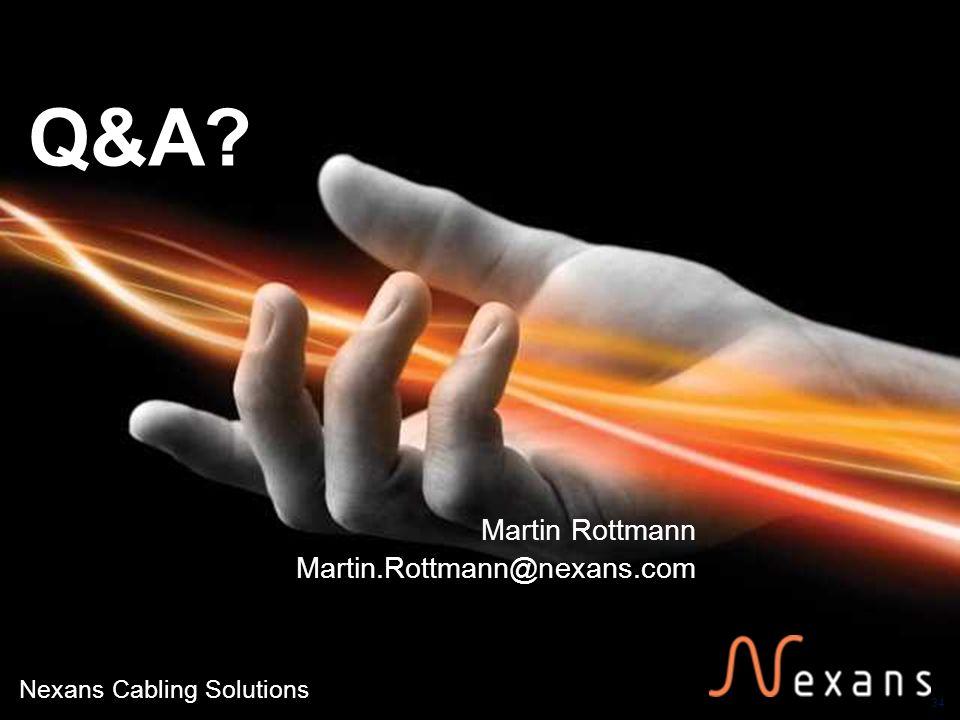 34 Nexans Cabling Solutions Q&A? Martin Rottmann Martin.Rottmann@nexans.com