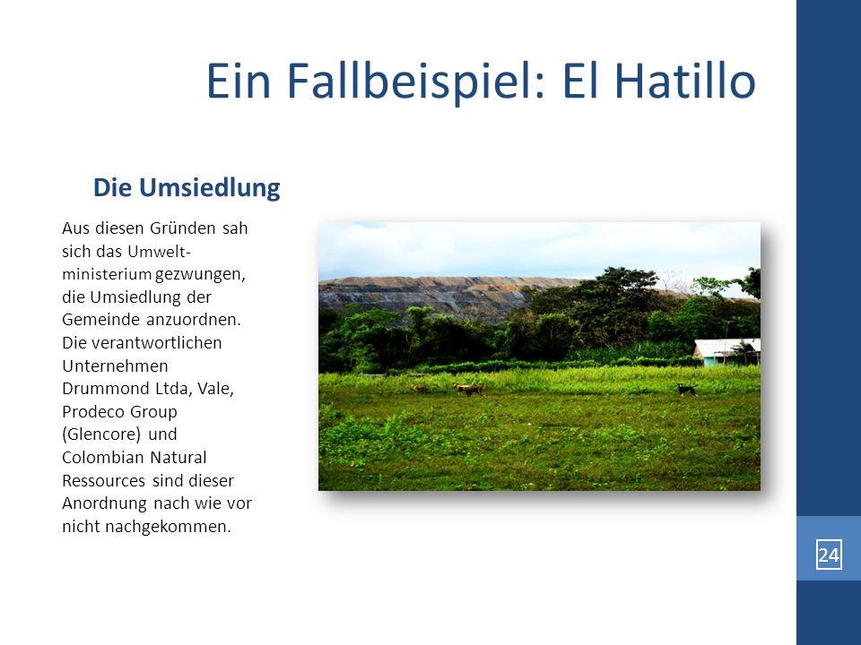 24 Ein Fallbeispiel: El Hatillo Aus diesen Gründen sah sich das Umwelt- ministerium gezwungen, die Umsiedlung der Gemeinde anzuordnen. Die verantwortl