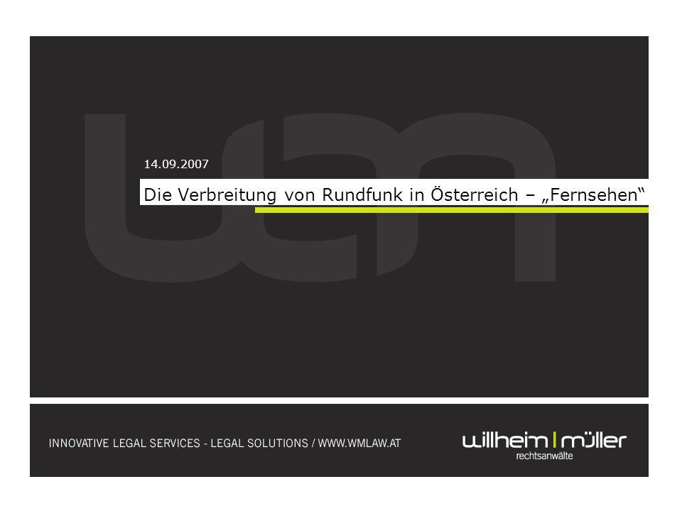 Um Privatfernsehen in Österreich zu veranstalten, müssen eine Reihe von allgemeinen Voraussetzungen erfüllt werden.