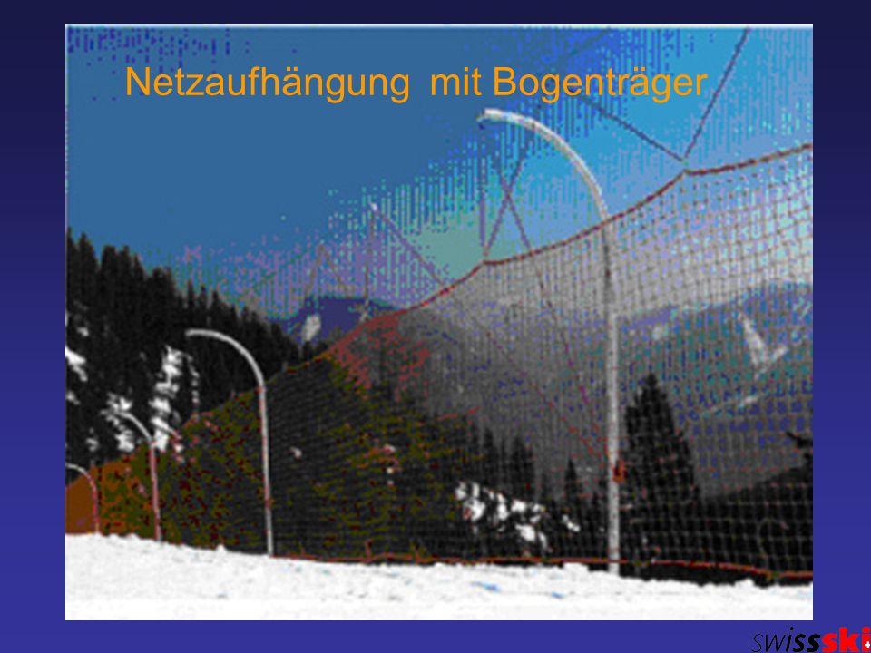 Netzaufhängung mit Bogenträger