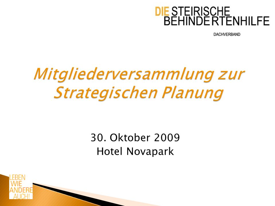 30. Oktober 2009 Hotel Novapark