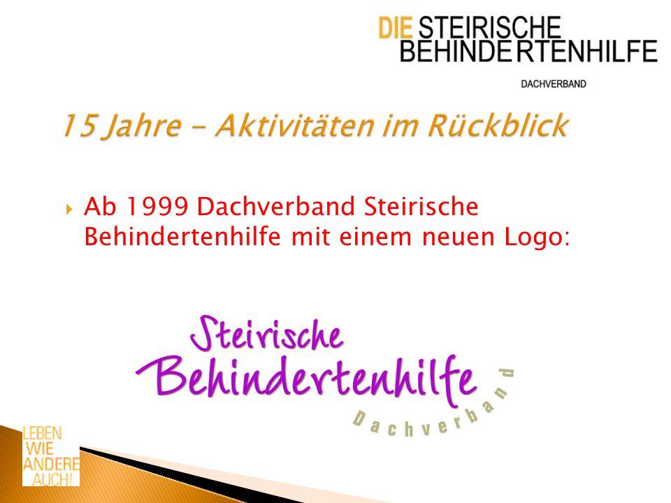 Ab 1999 Dachverband Steirische Behindertenhilfe mit einem neuen Logo: