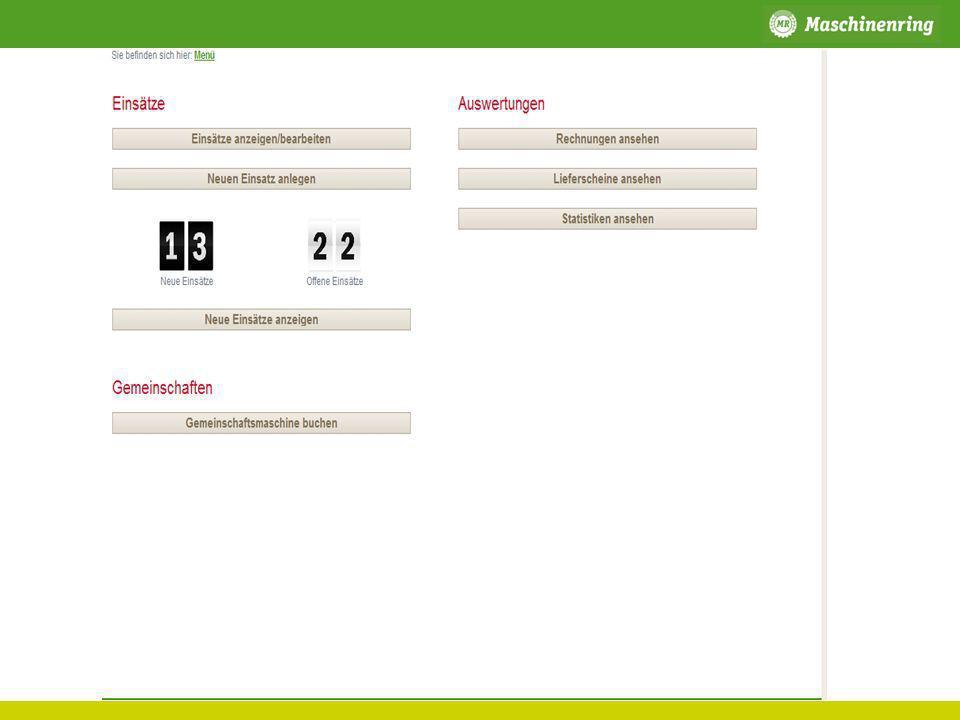 Agrar MR Vermittlung Beispiel: Transport (Siliergut, Hackschnitzel) Maschinenring Dienstleister Kunde Erstellung eines Auftrags im P2plus Durchführen der Tätigkeit Disposition im P2plus Lieferschein über WEB oder PDA Evtl.