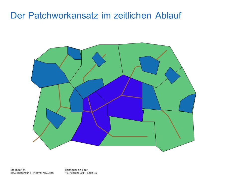 Barthauer on Tour 16. Februar 2014, Seite 15 Stadt Zürich ERZ Entsorgung + Recycling Zürich Der Patchworkansatz im zeitlichen Ablauf