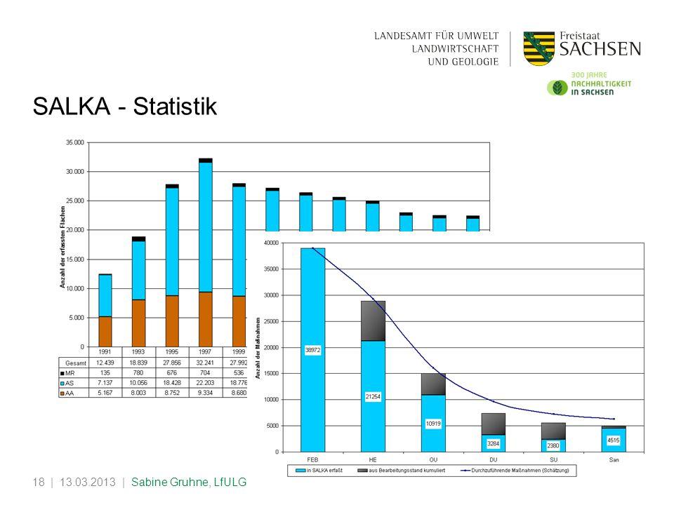 | 13.03.2013 | Sabine Gruhne, LfULG18 SALKA - Statistik