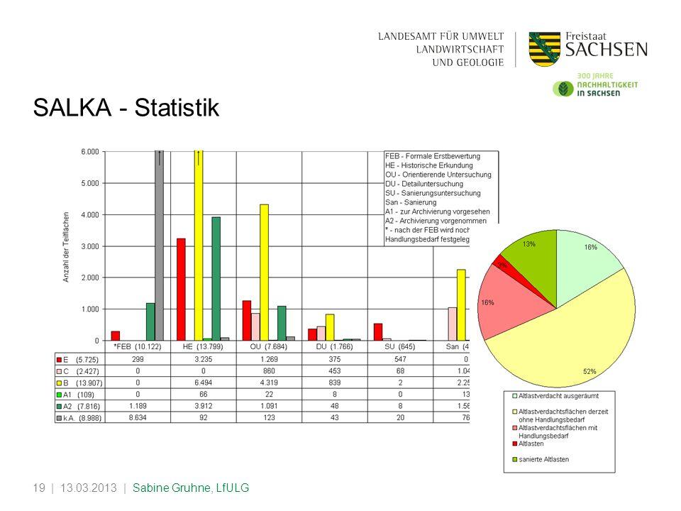 | 13.03.2013 | Sabine Gruhne, LfULG19 SALKA - Statistik