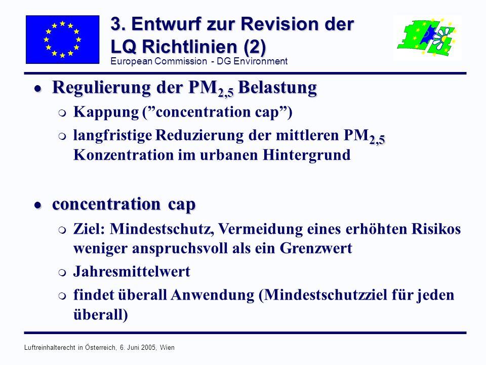 European Commission - DG Environment Luftreinhalterecht in Österreich, 6.