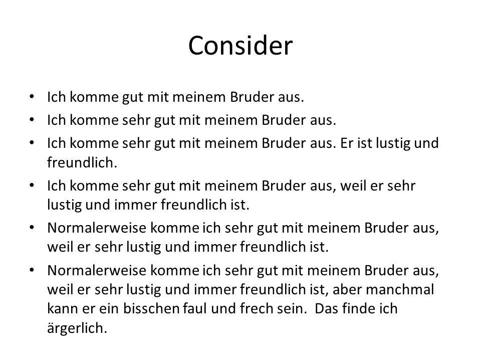 Kind, Freund, Bürger Controlled Assessment June 2013