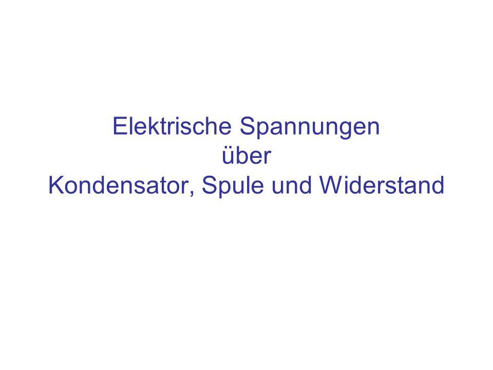 Inhalt Spannungen und ihre Ursachen für –Kondensator –Spule –Widerstand