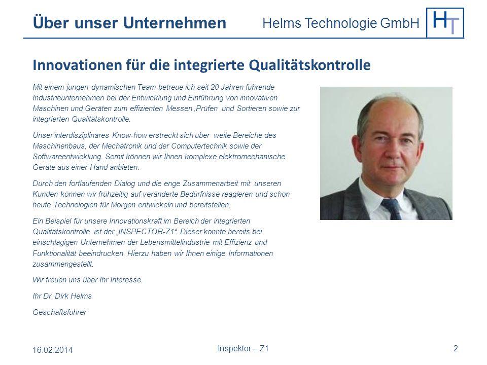Helms Technologie GmbH Mit einem jungen dynamischen Team betreue ich seit 20 Jahren führende Industrieunternehmen bei der Entwicklung und Einführung v