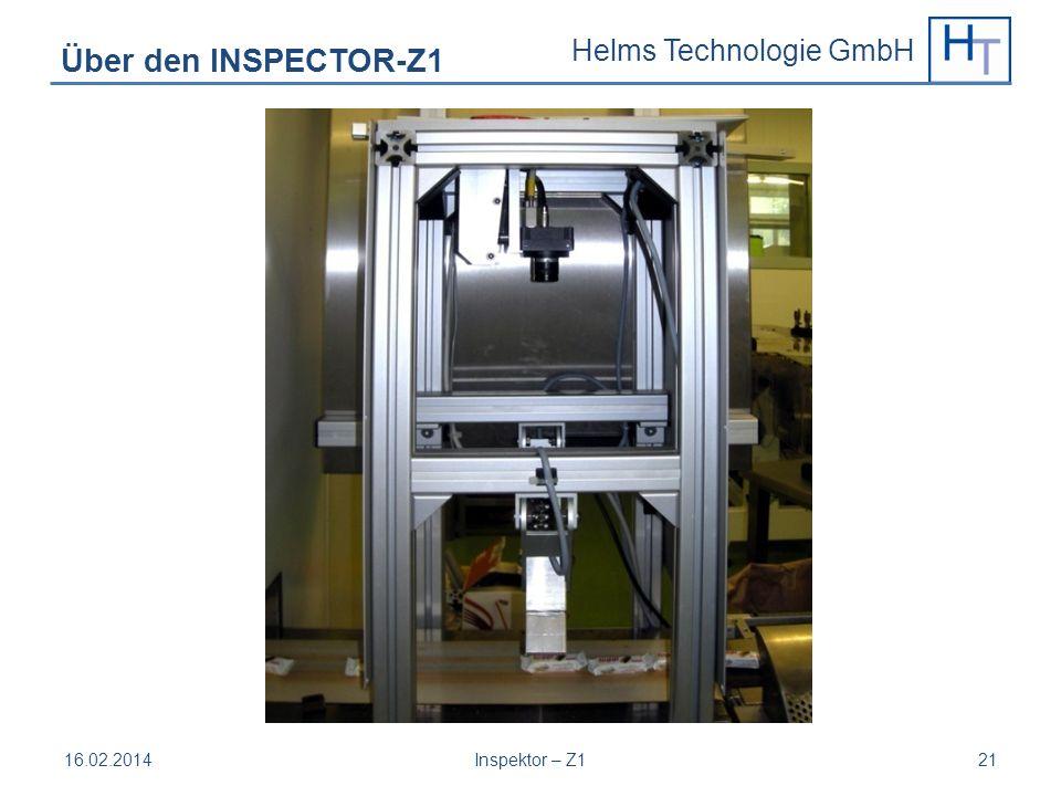Helms Technologie GmbH 16.02.2014Inspektor – Z121 Über den INSPECTOR-Z1