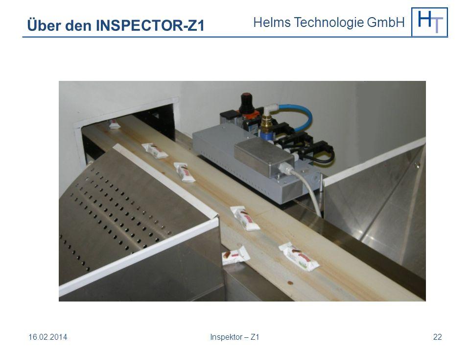 Helms Technologie GmbH 16.02.2014Inspektor – Z122 Über den INSPECTOR-Z1