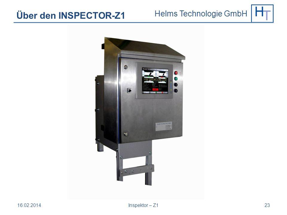 Helms Technologie GmbH 16.02.2014Inspektor – Z123 Über den INSPECTOR-Z1