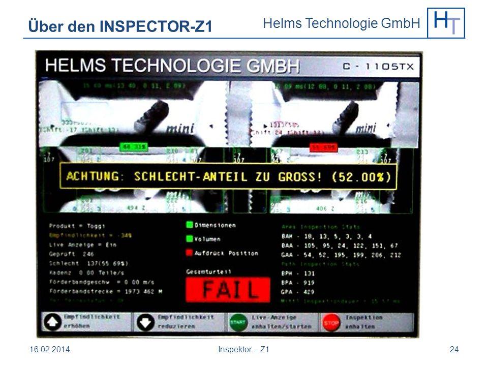 Helms Technologie GmbH 16.02.2014Inspektor – Z124 Über den INSPECTOR-Z1