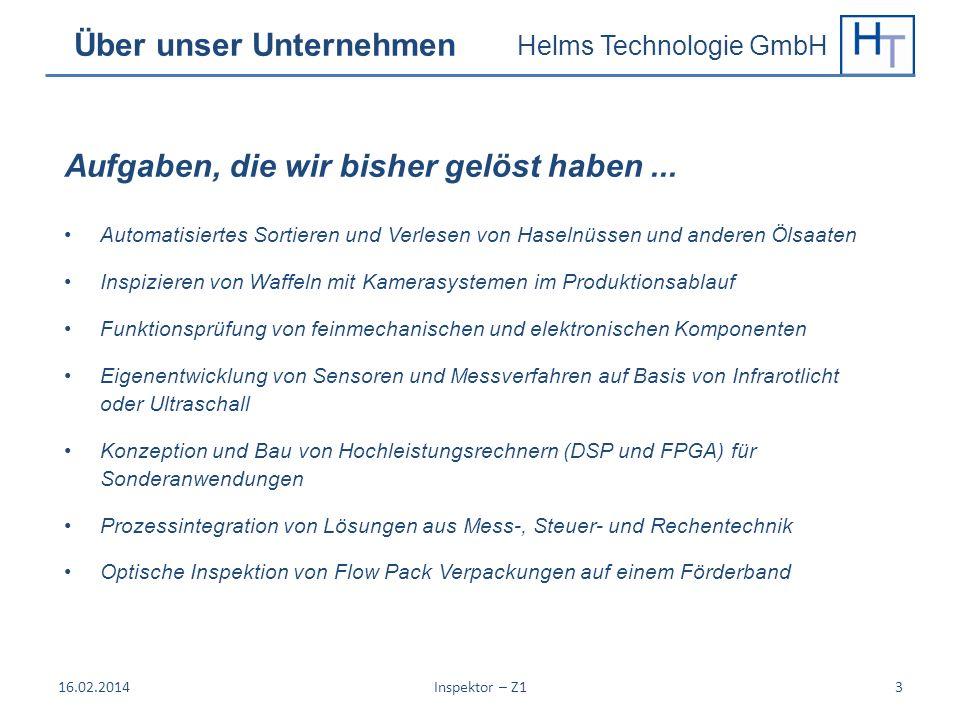 Helms Technologie GmbH Über unser Unternehmen Automatisiertes Sortieren und Verlesen von Haselnüssen und anderen Ölsaaten Inspizieren von Waffeln mit