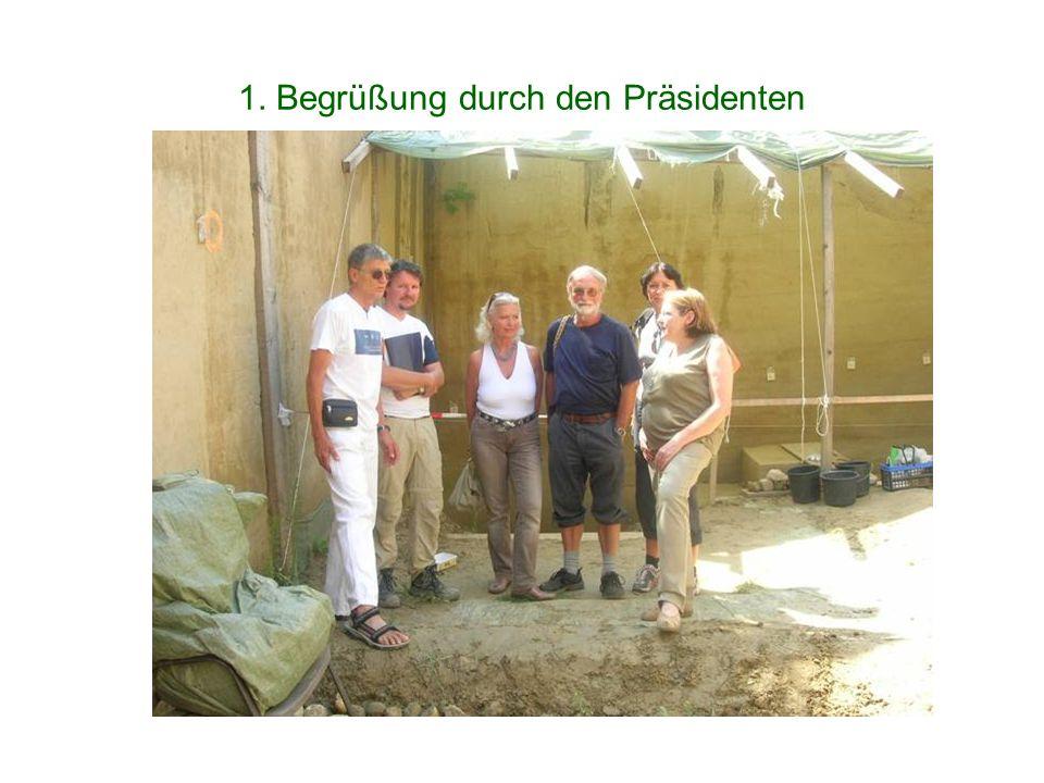 1. Begrüßung durch den Präsidenten