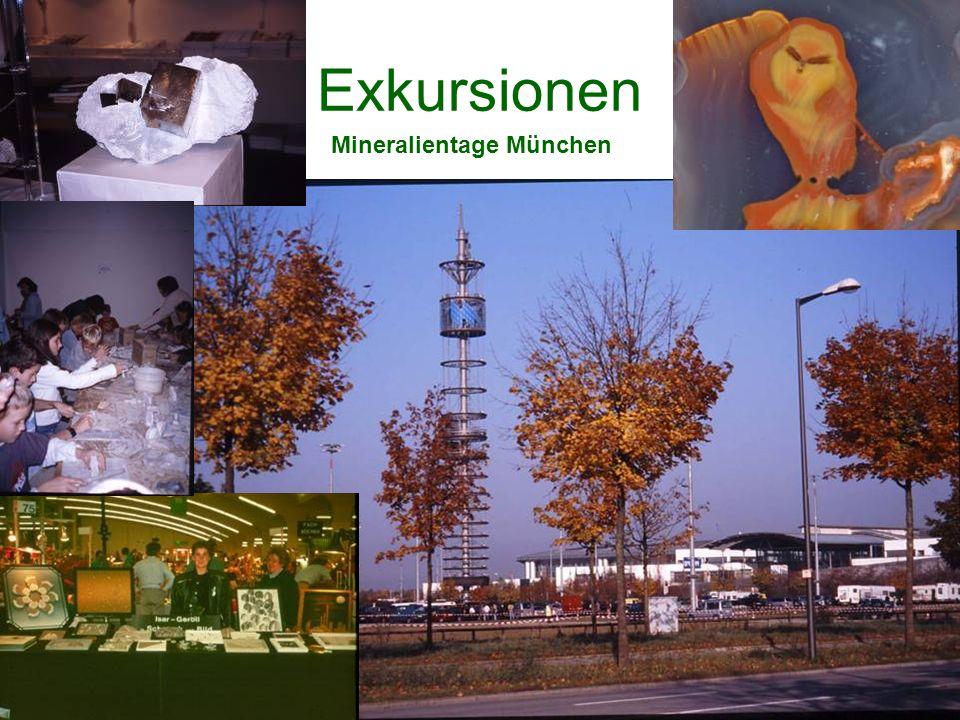 Exkursionen Mineralientage München