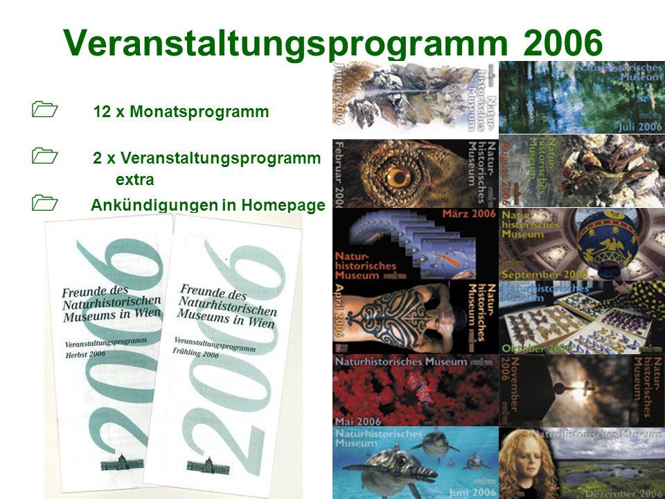 Veranstaltungsprogramm 2006 12 x Monatsprogramm 2 x Veranstaltungsprogramm extra Ankündigungen in Homepage