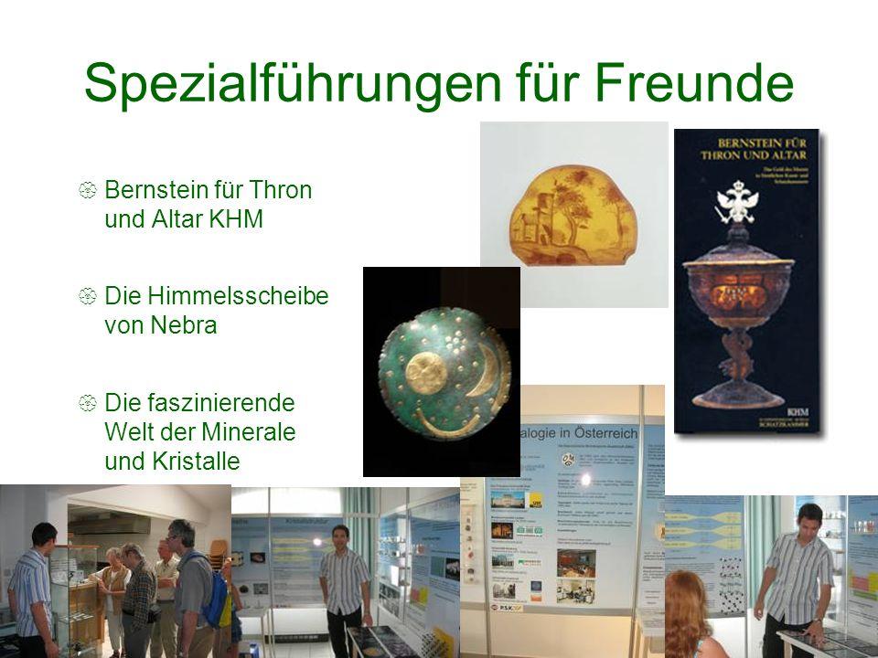 Spezialführungen für Freunde Bernstein für Thron und Altar KHM Die Himmelsscheibe von Nebra Die faszinierende Welt der Minerale und Kristalle