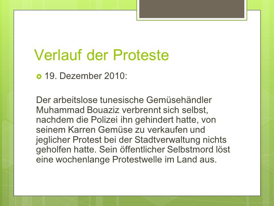Verlauf der Proteste: Januar - 14.