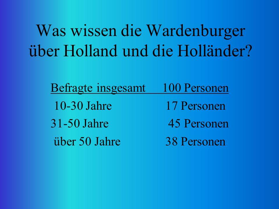 Was wissen die Wardenburger über Holland und die Holländer.