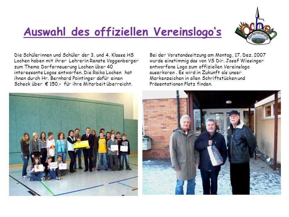 Auswahl des offiziellen Vereinslogos Die Schülerinnen und Schüler der 3. und 4. Klasse HS Lochen haben mit ihrer Lehrerin Renate Voggenberger zum Them
