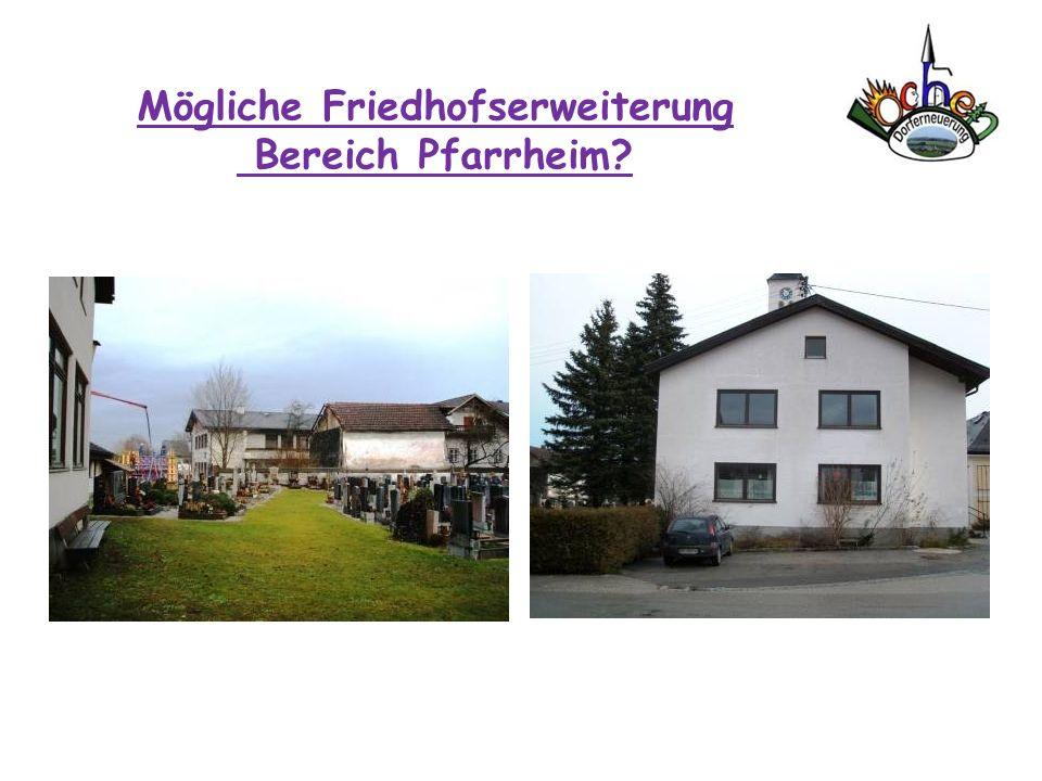 Mögliche Friedhofserweiterung Bereich Pfarrheim?