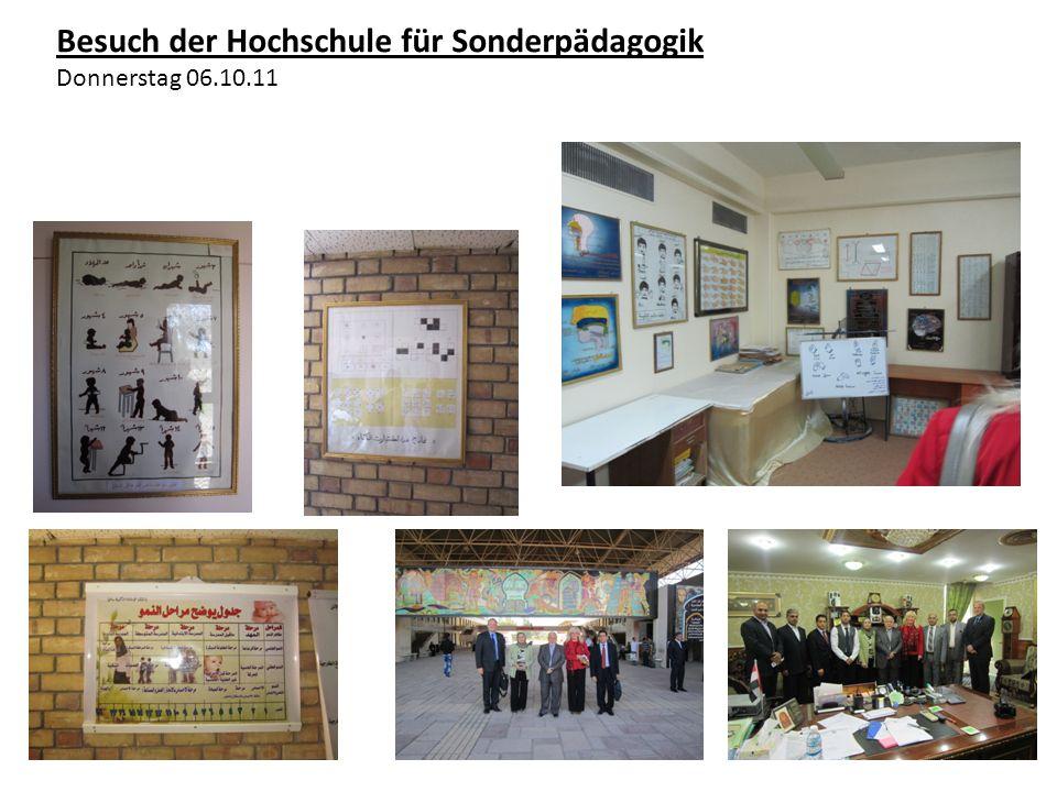 Besuch der Hochschule für Sonderpädagogik Donnerstag 06.10.11