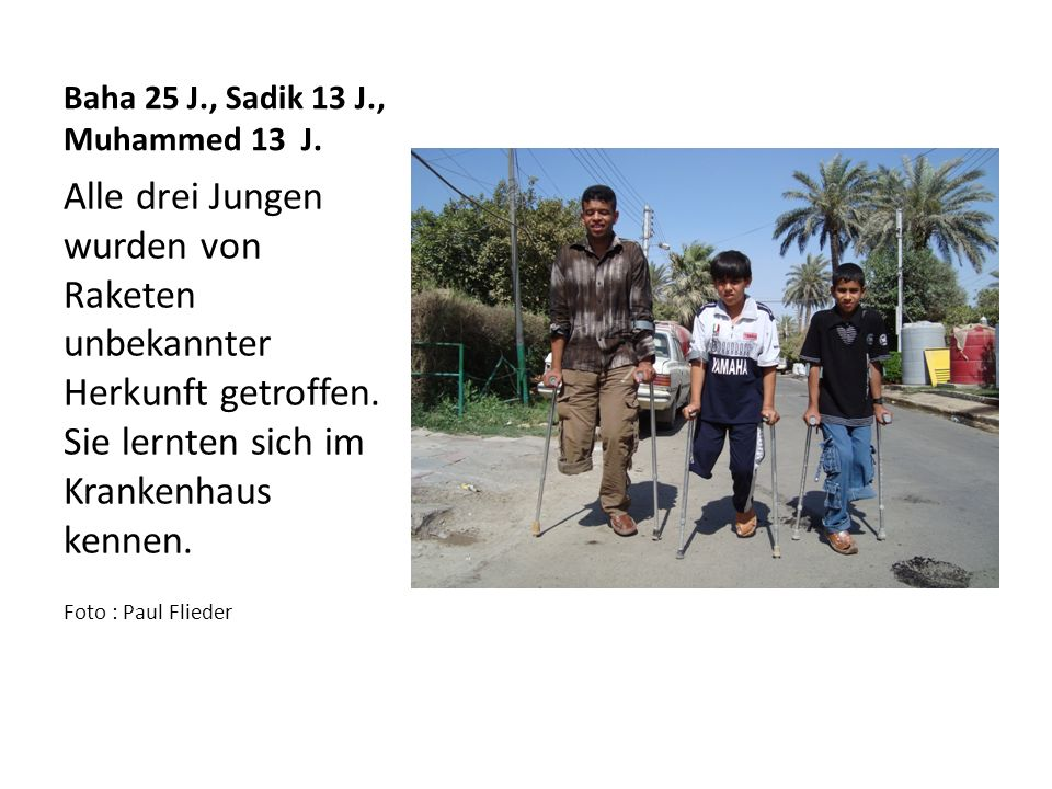Uni Bagdad, Fakultät für Sozialwissenschaften Sonntag, 02.10.11