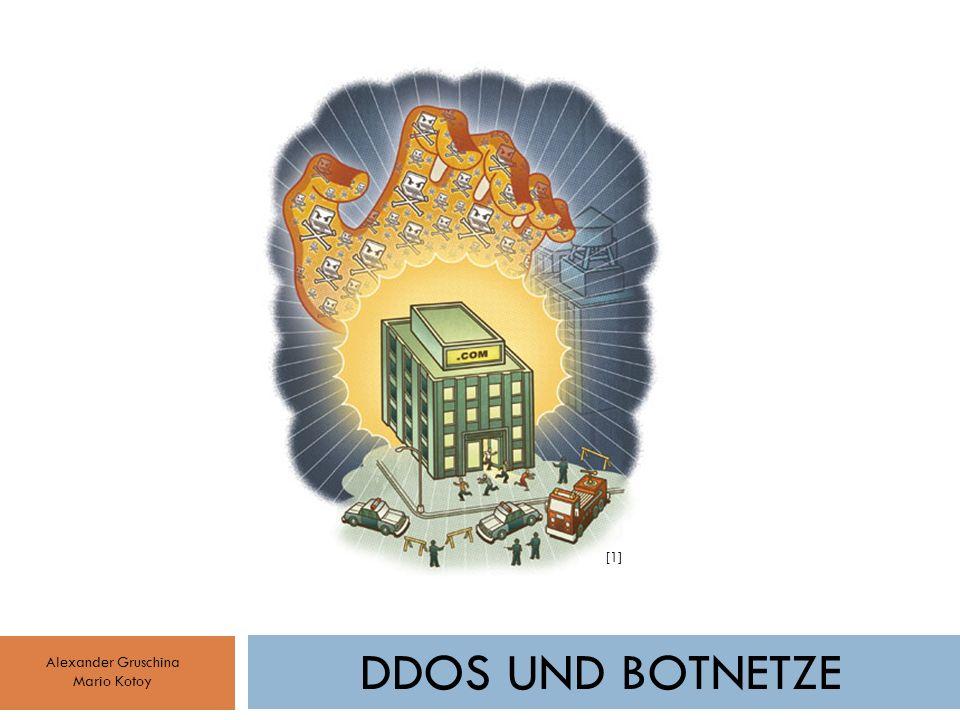 DDOS UND BOTNETZE Alexander Gruschina Mario Kotoy [1]