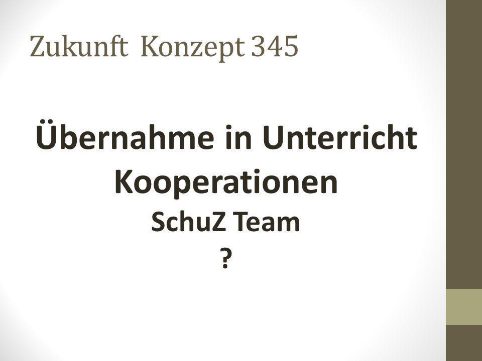 Zukunft Konzept 345 Übernahme in Unterricht Kooperationen SchuZ Team