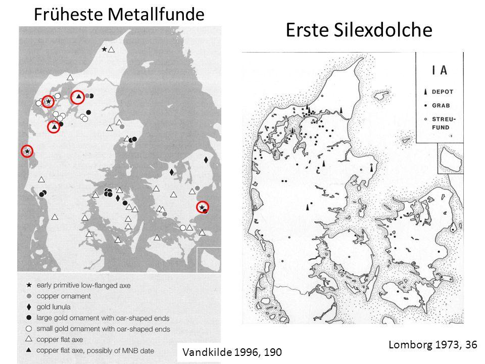 Früheste Metallfunde Erste Silexdolche Lomborg 1973, 36 Vandkilde 1996, 190