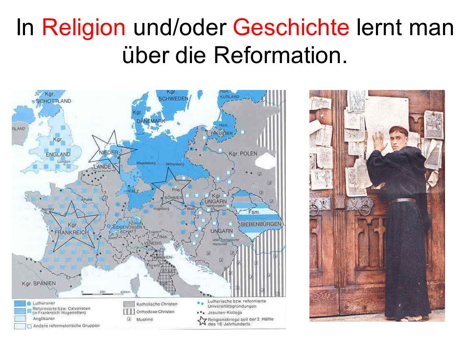 In Religion und/oder Geschichte lernt man über die Reformation.