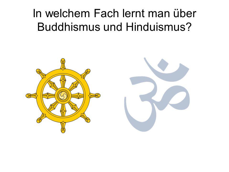 In welchem Fach lernt man über Buddhismus und Hinduismus?