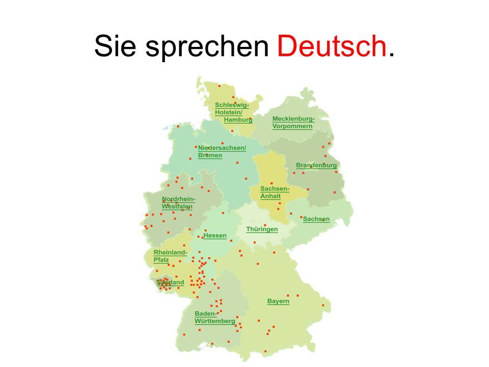 Sie sprechen Deutsch.