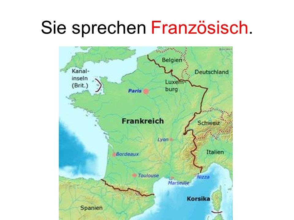 Sie sprechen Französisch.